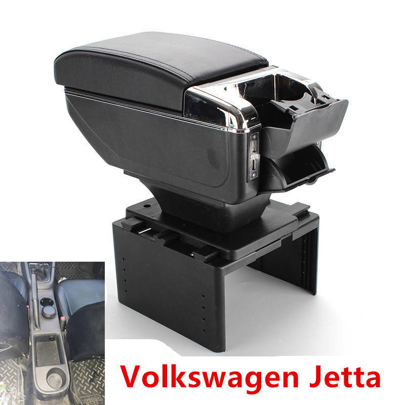 for Volkswagen Jetta VI armrest box USB Charging interface heighten central Store content box cup holder ashtray accessories|Armrests|   - title=