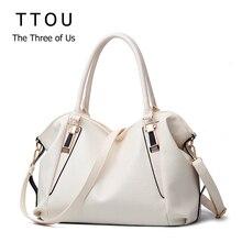 TTOU Bolso de diseñador de piel sintética para mujer, bolso de hombro portátil para oficina, Hobos