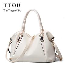 TTOU tasarımcı kadın çanta kadın PU deri çanta çanta bayanlar taşınabilir omuzdan askili çanta ofis bayanlar Hobos çanta tote