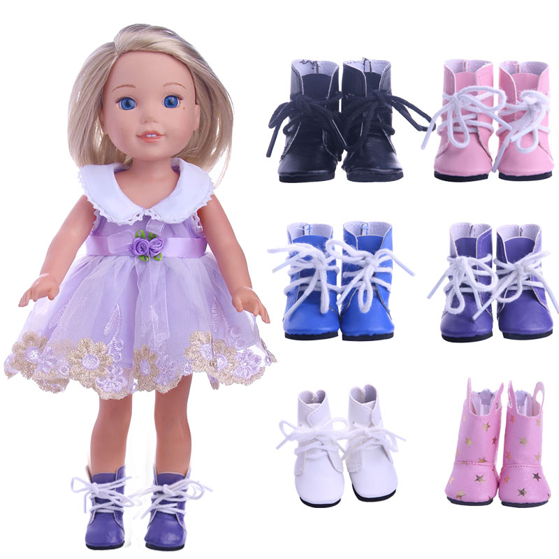 14.5 Inch Doll Shoes Boots Leather Shoes Fit 14.5 Inch Wellie Wisher Doll Our Generation Christmas Birthday Gift