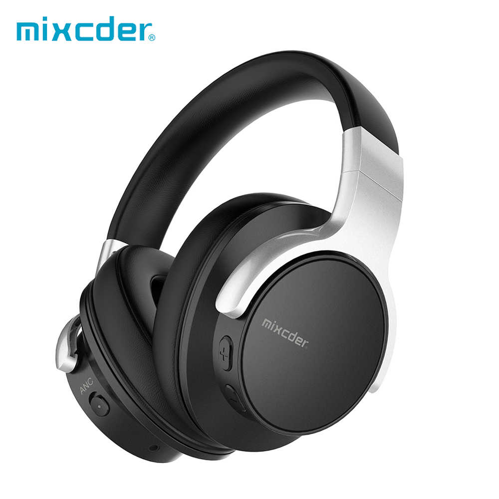 Mixcder E7 Active Noise Cancelling Wireless Bluetooth Headphones With Mic Hi Fi Stereo Headset Deep Bass Over Ear Headphone Aliexpress