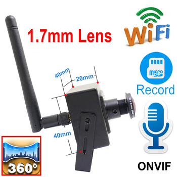 5MP Wifi Mini Camera Ip 1080P HD 1.7mm Fisheye Lens Panorama Cam Home Security Wireless Audio Micro Small CCTV Surveillance IPC ahua ipc eb5531 5mp wdr panorama 180 degree built in mic with sd card slot poe network fisheye ip camera replace ipc eb5500