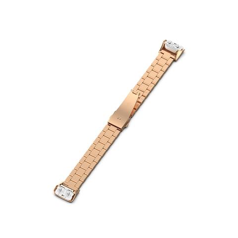 Medium Size Unisex for Samsung Galaxy Fit SM-R370 Watchband Smart Watch Three Beads Stainless Steel Strap Smartwatch Accessories Lahore