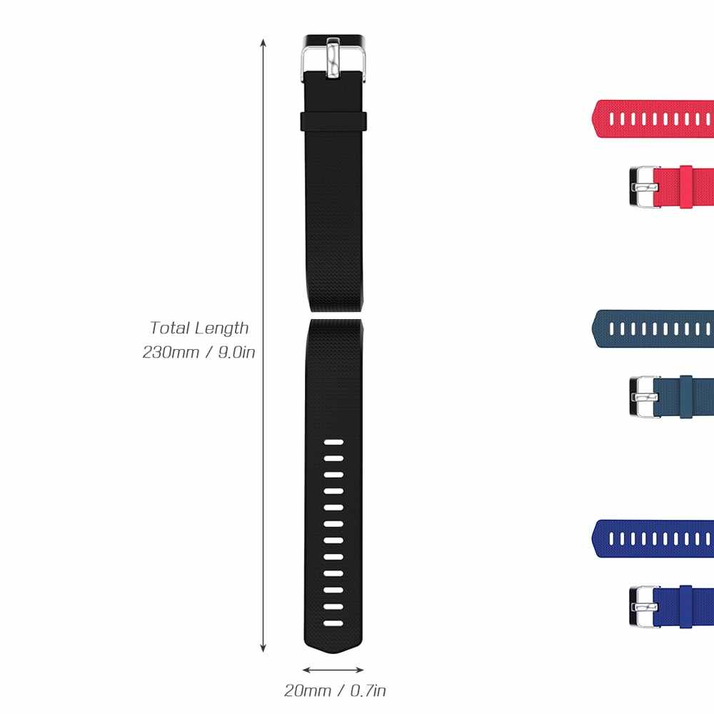 Band for Fitbit Charge2 Soft TPU Silicone Adjustable Replacement Strap Band for Charge2 Smartwatch Replacement Wist Band