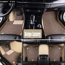 SUNNY FOX специальные автомобильные коврики для Audi A1 A3 A4 A6 A7 A8 Q5 Q7 TT 5D автостайлинг сверхмощное всепогодное ковровое напольное покрытие