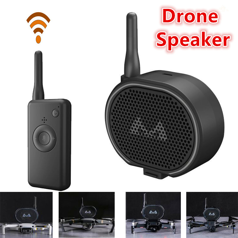 Drone Speaker Megaphone For Drone Quadcopter Loadable More Than 100g Universal Drone Loudspeaker 1200m Control Distance