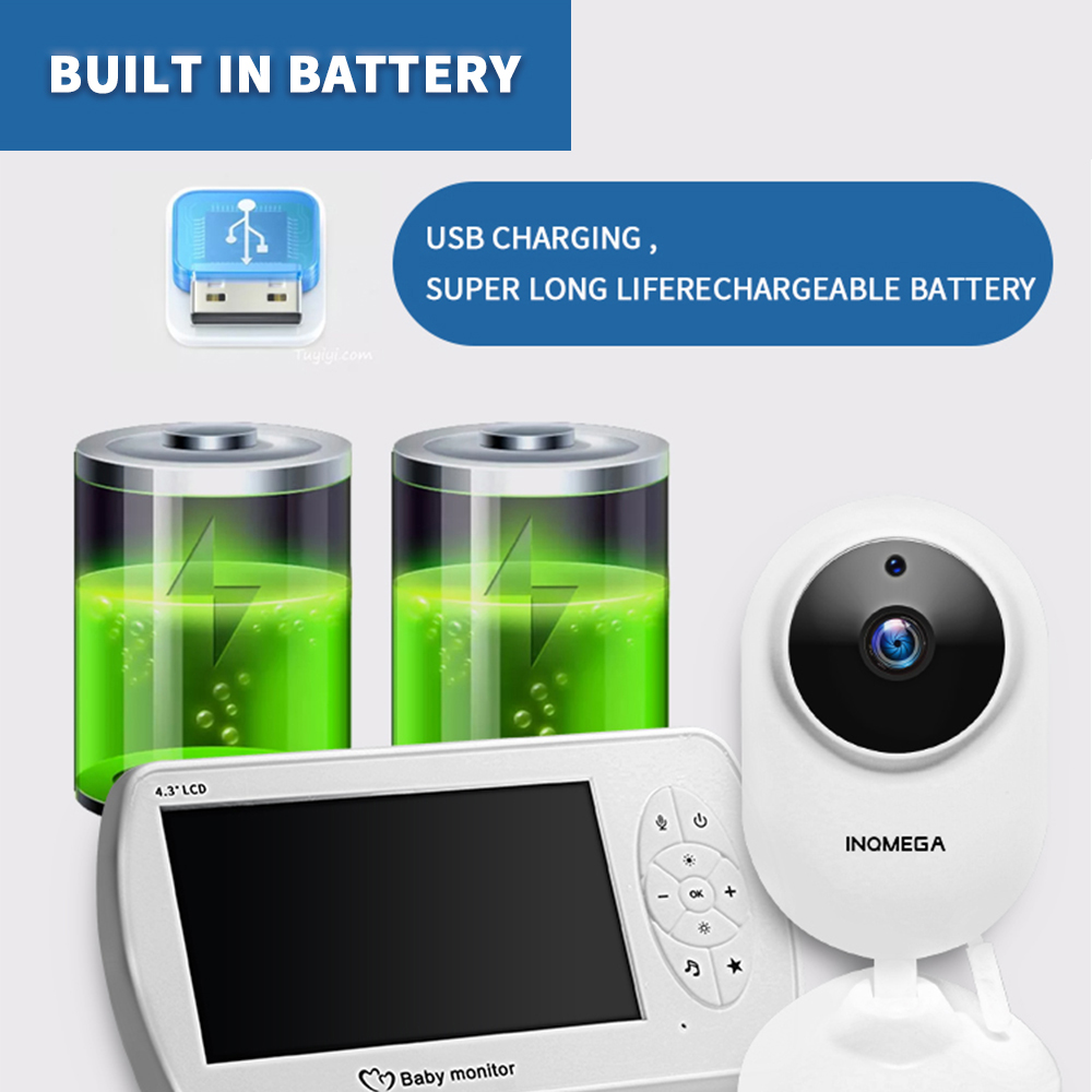 Babyfoon Wireless Video  Monitor 4.3   Nanny Security Camera sitter Night Vision  Phone  Baba Eletronica