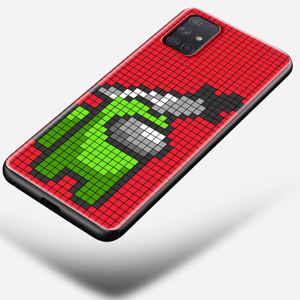Among Us impostor Pixel Case For Samsung Galaxy A50 A51 A70 A71 A10 A20 A30 A40 A11 A21s A31 A41 TPU Soft Black Phone Cover  - buy with discount
