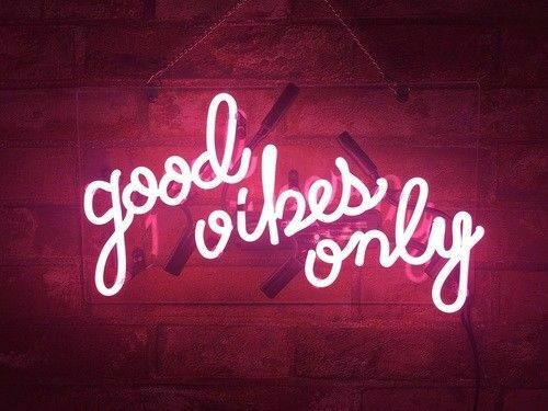 Custom Good Vibes Only Pink Glass Neon Light Sign Beer Bar