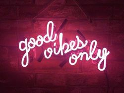 Custom Good Vibes Only Pink Glass Neon Light Sign Beer Bar