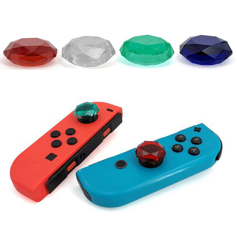 2pcs Shining Diamond Thumb Stick Grip Cap Joystick Cover For Nintend Switch Lite NS Joy-Con Controller Gamepad Thumbstick Case