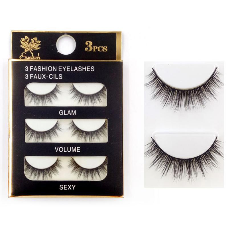 3 Pairs 3D Mink Hair False Eyelashes Natural And Thick Long Soft Eye Lashes Wispy Makeup Beauty Extension Tools TSLM1