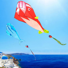 Dolphin Kite Outdoor Fun Soft Single-Line Inflatable Automatic Parent-Child-Game Early-Education
