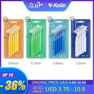 Image 1 - Y kelin 10 pièces 0.6 1.0mm adultes brosse interdentaire propre entre les dents fil dentaire cure dents outil de soins bucco dentaires orthodontique
