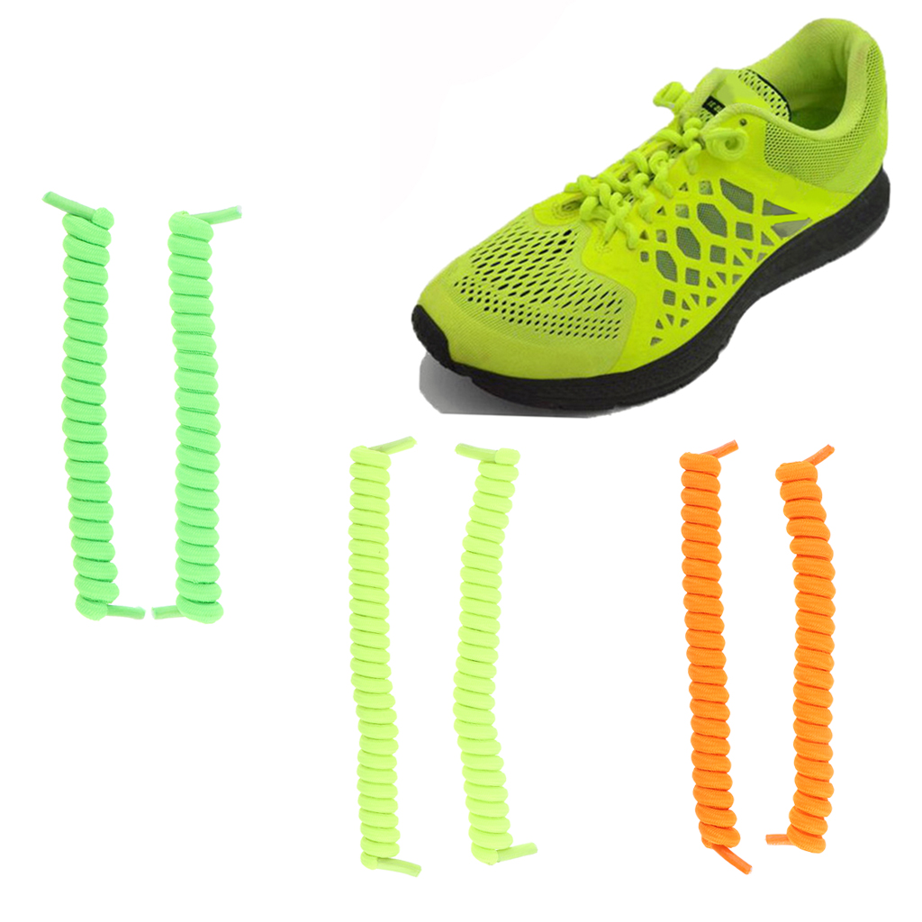 3pairs pack No Tie Elastic Shoe Strings Shoelaces Lazy Spring Shoe Laces for Men Women in Shoelaces from Shoes