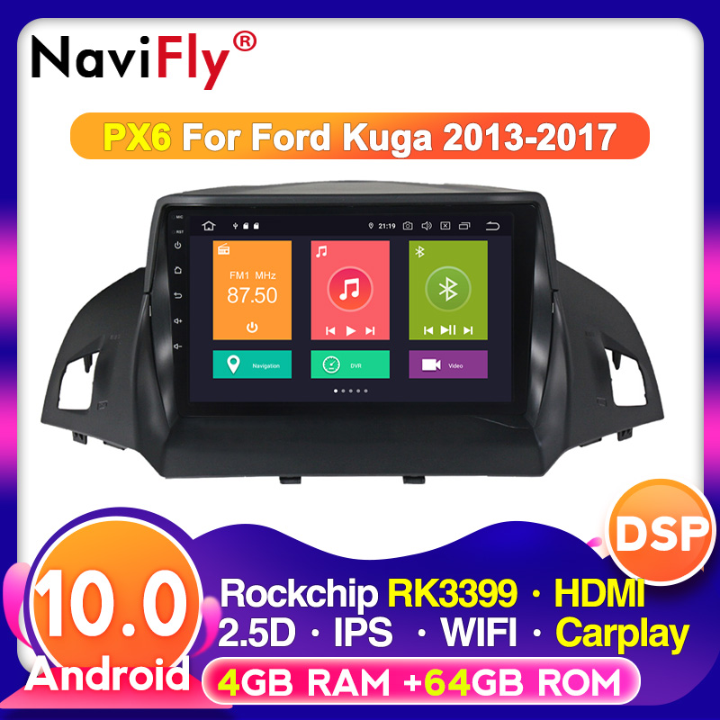 4G+64G Android 10 DSP For Ford Kuga Escape 2013 2014 2016 Car Radio Multimedia Video Player Navigation GPS 2 din dvd|Car Multimedia Player|   - AliExpress