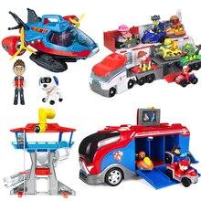 Paw Patrol Bus de sauvetage pour chiens, avion Patrulla Canina, Base de sauvetage pour jouets, Center de commandement, chiot patrouille, ensembles de figurines daction, cadeaux