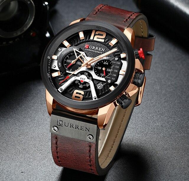 Relógios de moda masculina relógio de luxo marca curren esportes relógio de pulso casual quartzo relógio de negócios homem à prova dwaterproof água 30 m reloj