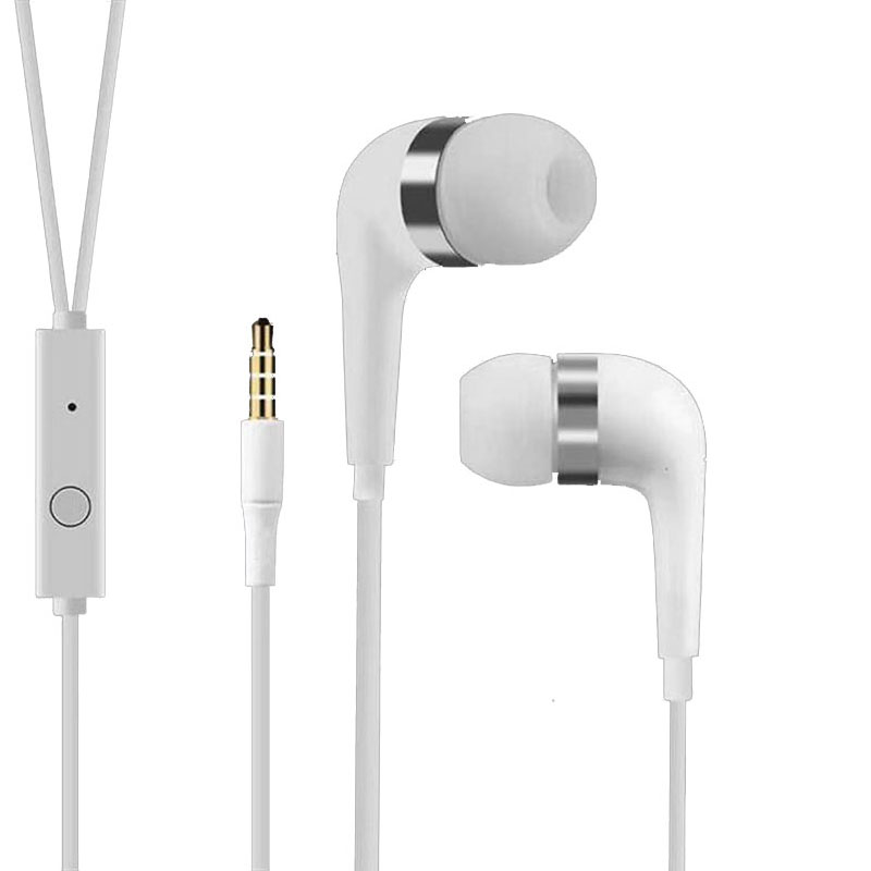 3.5mm Plug Wired Earphone In-ear Universal Earpiece With Mic Wired Headsets Portable Earbud For Phones MP3 MP4 PC Game Music