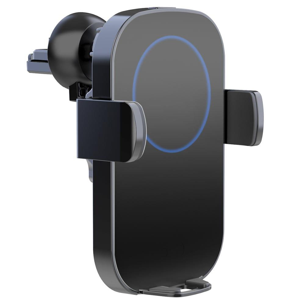 QI N12 mobile phone car wireless charger LED light fast charging mobile phone bracket FOR: iphone Samsung Huawei xiaomi VIVO|Wireless Chargers| |  - title=