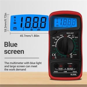 Urijk 1 шт. XL830L цифровой мультиметр, ЖК-дисплей с подсветкой, переменный/постоянный ток, Мини Портативный амперметр, вольтметр, ручной Омметр