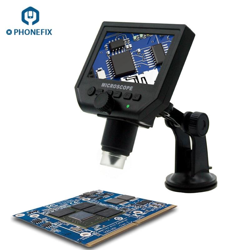 600x LCD pantalla microscopio electrónico G600 3.6MP portátil LED Digital microscopio teléfono móvil soldadura REPARACIÓN DE PCB herramienta