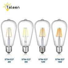 TSLEEN LED Candle Bulb G45 Vintage ST64 Filament Light Bulb E27 LED Edison Globe Lamp 220V 110V A60 Glass Replace Incandescent(China)