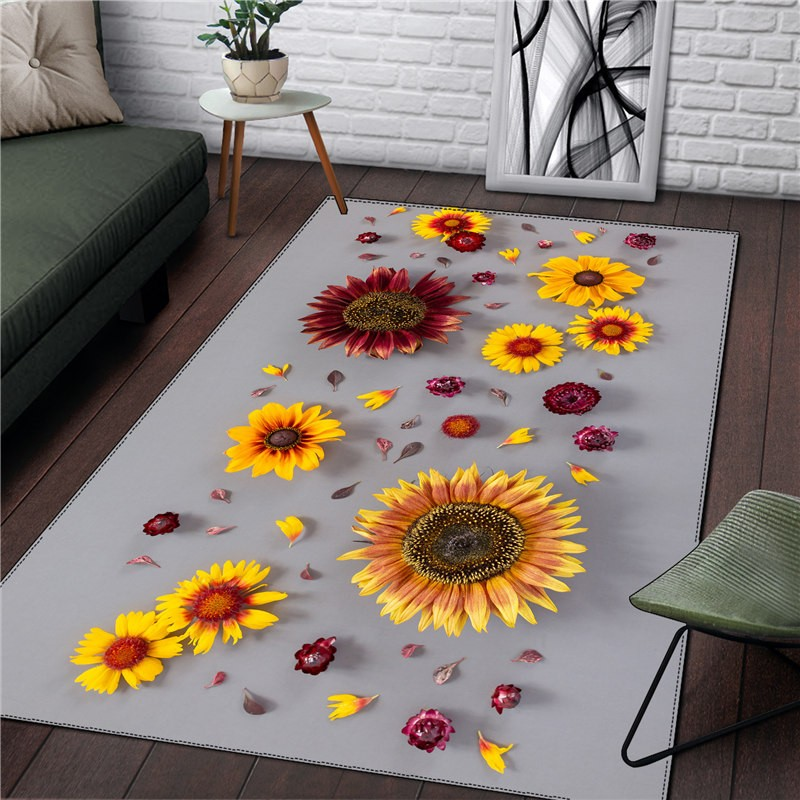 Flower Rug Home Picnic Kitchen Room Square Carpet Girl Christmas Gift Adult Living Room Fashion RUG Newest Drop Ship