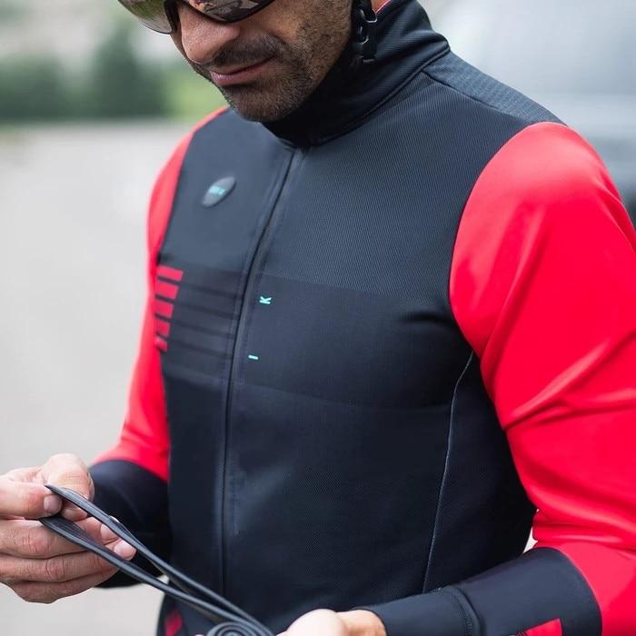 2019 Deep Winter Windproof And Waterproof Thermal Fleece Cycling Jacket Bike Jacket Road Mtb 3 Layer Fabric For -5-10
