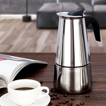 Espresso Maker Moka Pot Stainless Steel Filter Cafe Maker Coffee Pots Percolator Drink Tool Cafetiere Latte Stovetop