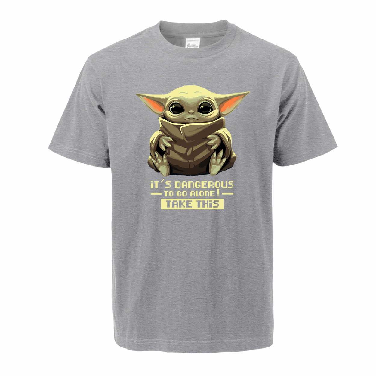 Baby Yoda De Mandalorian Mannen Zomer T-shirt 100% Katoen Ronde Hals Leuke Yoda T-shirt Kerst Tops Tees Star Wars streetwear