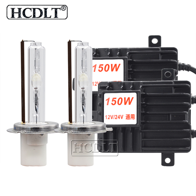 HCDLT 2020 NEW Super Bright 150W HID Headlight Kit 12V 24V Car Light Xenon Ballast High Power H1 H3 H7 H11 9005 D2H hid Bulb Kit