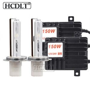 Image 1 - Hcdlt 2020 新スーパーブライト 150 ワット hid ヘッドライトキット 12 v 24 v 車のライトキセノンバラストハイパワー h1 H3 H7 H11 9005 D2H hid 電球キット
