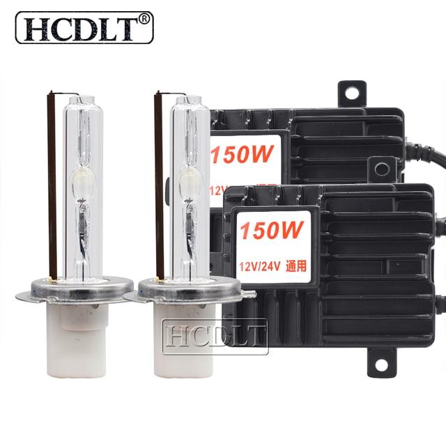 Hcdlt 2020 新スーパーブライト 150 ワット hid ヘッドライトキット 12 v 24 v 車のライトキセノンバラストハイパワー h1 H3 H7 H11 9005 D2H hid 電球キット