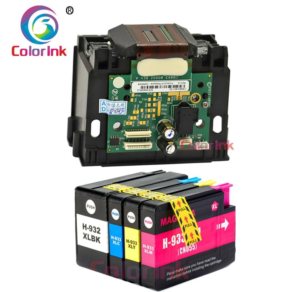 ColorInk 932 933 cabezal de impresión CB863-80002A para HP 932 cabeza de impresión HP Officejet 6100, 6600, 6700, 7110, 7610, 7612, 7512 cartuchos de tinta de la impresora