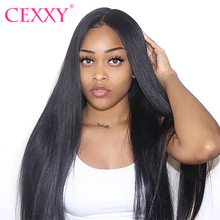 Wig Lace CEXXY Human-Hair 360 Straight with European for Black Women 30inch Hairline