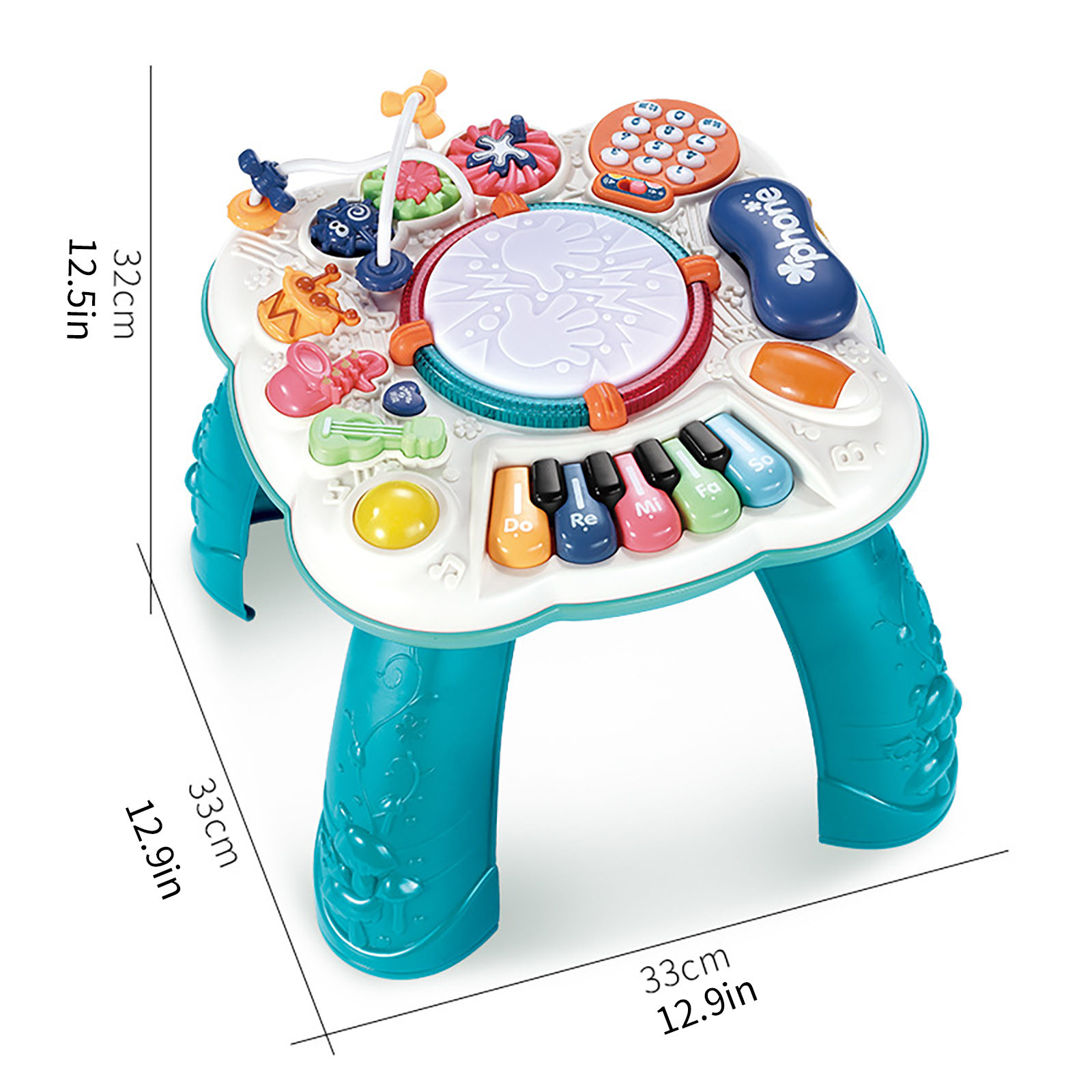 Mesa musical para bebês, máquina educacional para