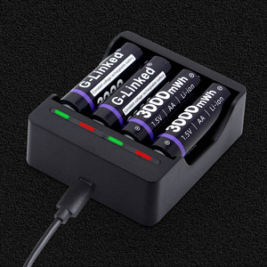Image 1 - G Linked 1.5V Battery Charger Li ion LED Smart Fast Charger for 1.5V AA AAA Lithium Rechargeable Batteries Baterias