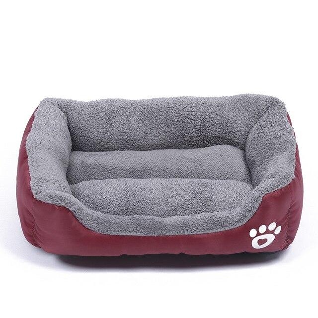 Pluche Comfort hondenbed - kleur wijnrood 1