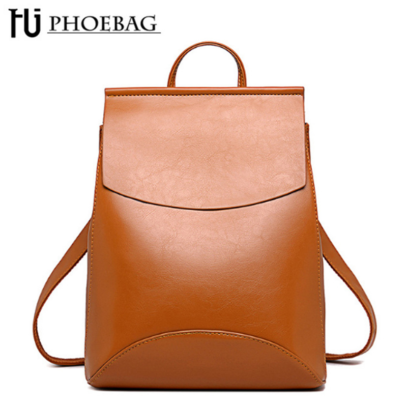 Fashion 2018 Women Backpack High Quality PU Leather Backpacks For Teenage Girls Female School Shoulder Bag Mochila HJ-8110