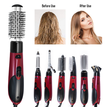 Professional Hair Straightener Brush Hair Dryer Hot Comb Tangle Heating Comb Blow Dryer Smoothing Brush Styler Styling Tools