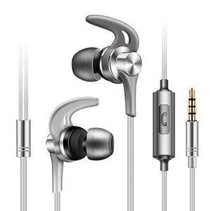 3,5 мм наушники-вкладыши, бас стерео гарнитура, наушники для бега, проводные наушники, спортивные наушники, шумоподавление, наушники для Xiaomi