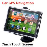 7 Inch HD Car GPS Navigation FM MP3/MP4 Players 256MB/8GB Navigators Automotive Electronic Accessories