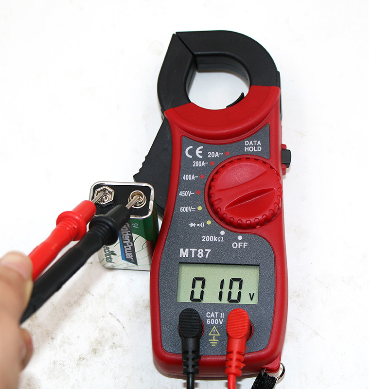 Digital Clamp Multimeter Amper Clamp Meter Tester Current Clamp AC/DC Current Voltage Transitor Tester Power Meter