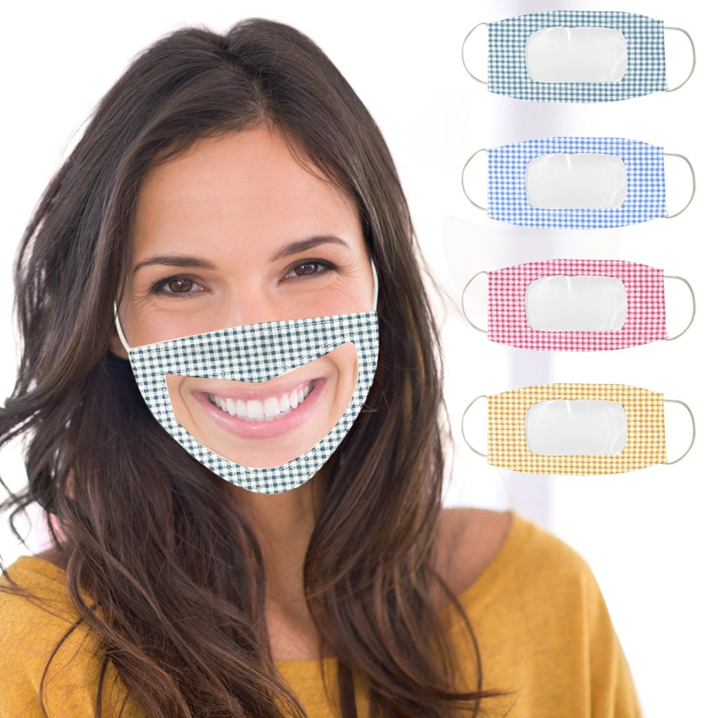 BREATHABLE FACE MASK WITH CLEAR WINDOW