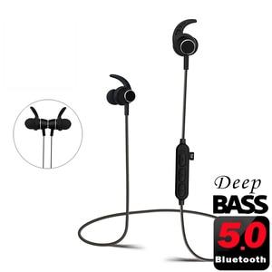 Image 1 - PunnkFunnk Bluetooth kulaklık kablosuz kulaklıklar Bluetooth 5.0 MP3 oyuncu metal manyetik 3D Stereo kulak kulaklık Mic ile