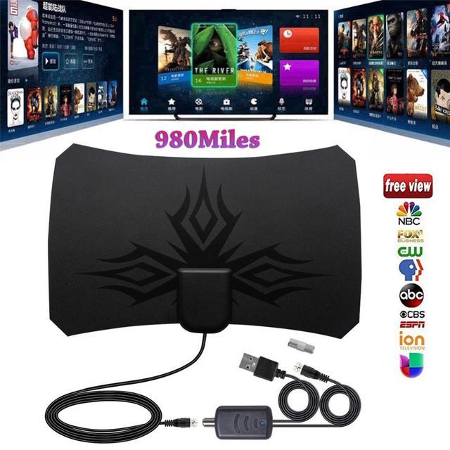 980 mile Digital Antenna TV indoor Amplifier Signal Booster DVB-T2 HDTV antenna isdb-tb Satellite Signal receiver clearTV Aerial 4