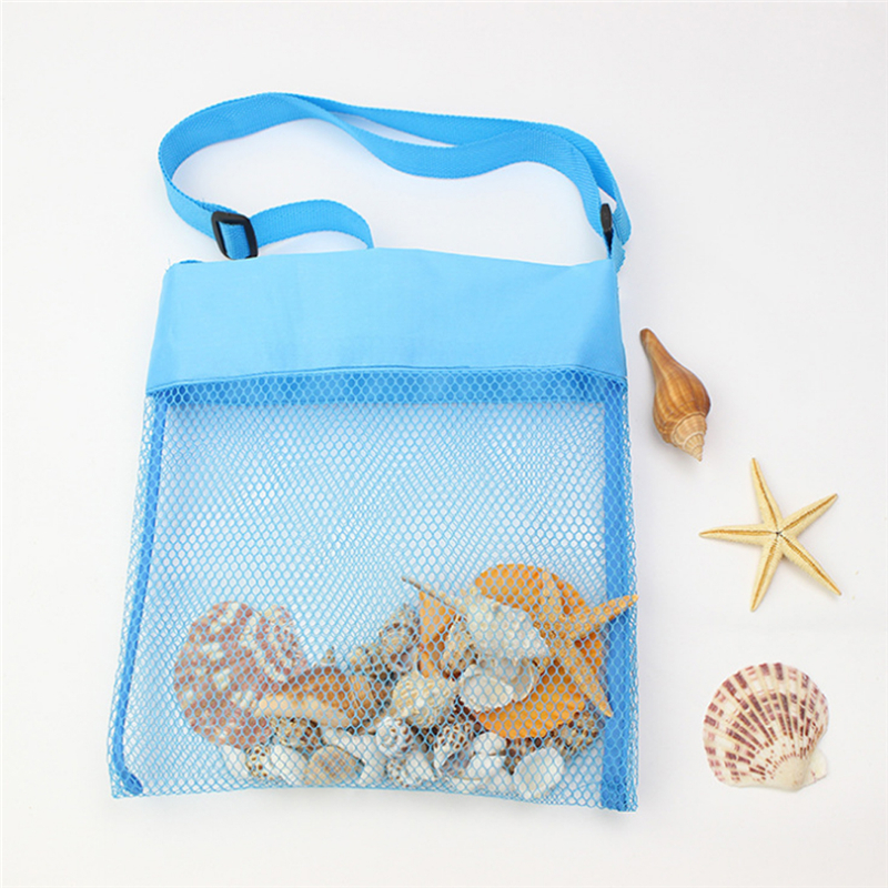 Bag Collect-Toys Mesh-Bag Sand Beach-Storage Handbags Tote Shell Net Object Girls Kids