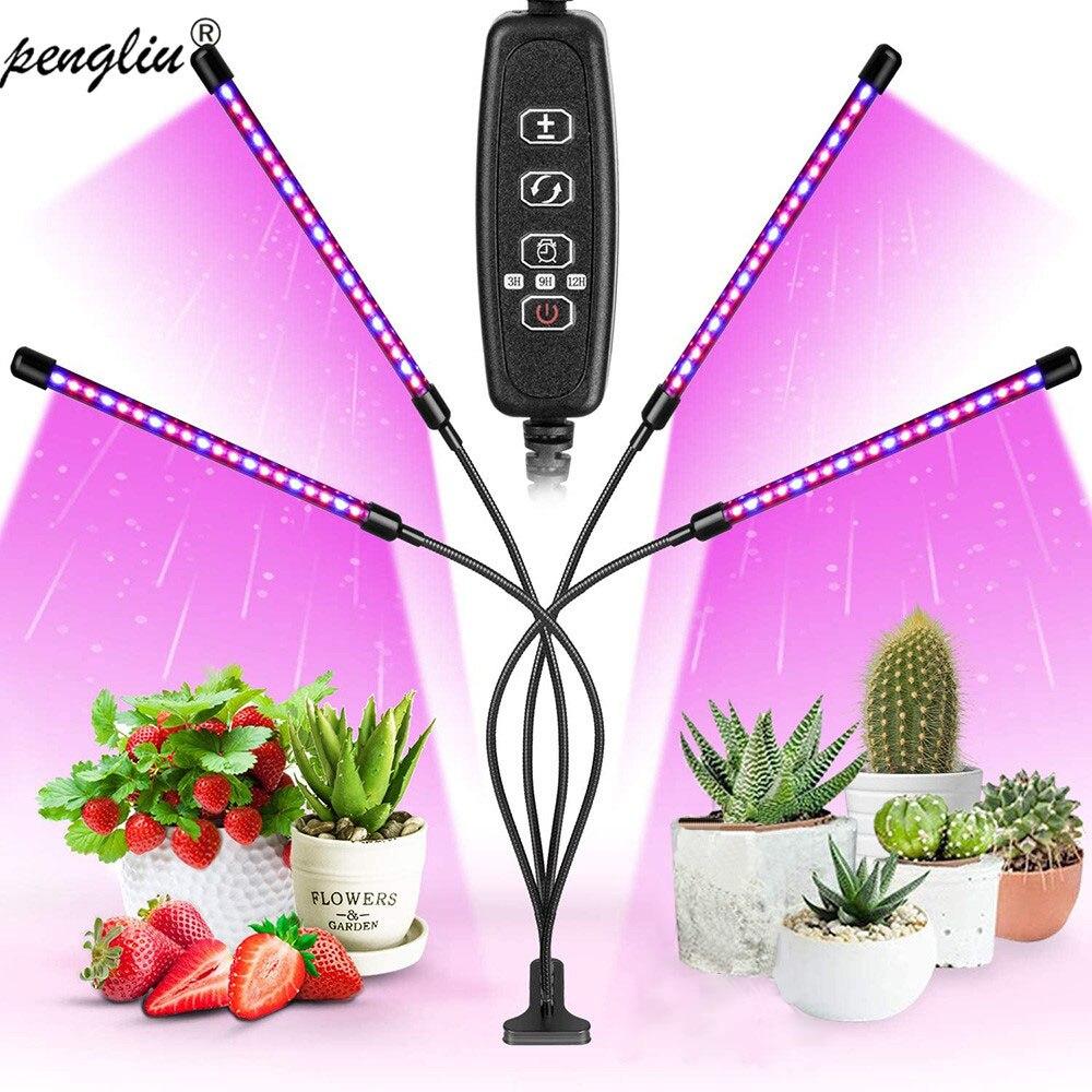 Фитолампа полного спектра, светодиодный светильник с USB клипсой 9 Вт 18 Вт 27 Вт 36 Вт, настольная лампа зажим для рассада растений, лампа для роста в помещении|Тканевые горшки для рассады|   | АлиЭкспресс