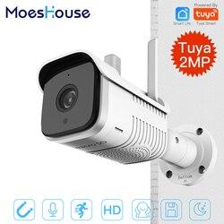 Tuya Smart Outdoor IP65 Wasserdichte WiFi Zwei-Weg Audio Kamera HD 1080P Netzwerk Nachtsicht IP Kamera
